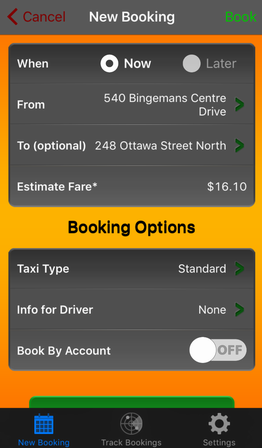 New booking options
