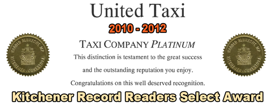 United Taxi Platinum Award of Distinction